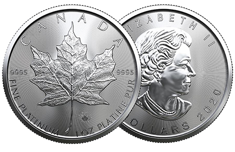 A picture showing both sides of a 1 oz Canadian Maple Leaf platinum coin, one of the platinum products eligible Self-Directed IRA precious metals investments
